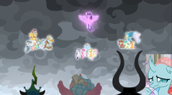 Size: 1678x932 | Tagged: alicorn, animation error, applejack, cozy glow, dragon, edit, flash magnus, fluttershy, gallus, leak, lord tirek, mane seven, mane six, meadowbrook, mistmane, ocellus, pillars of equestria, pinkie pie, queen chrysalis, rainbow dash, rarity, rockhoof, safe, sandbar, screencap, silverstream, smolder, somnambula, spike, spoiler:s09e25, star swirl the bearded, student six, the ending of the end, twilight sparkle, twilight sparkle (alicorn), winged spike, yona, you had one job