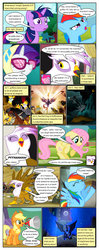 Size: 612x1553 | Tagged: annoyed, applejack, artist:newbiespud, castle, comic, comic:friendship is dragons, crown, dialogue, earth pony, eclipse, edited screencap, ethereal mane, female, fluttershy, flying, freckles, full moon, gilda, glasses, griffon the brush off, hat, headscarf, hoof shoes, jewelry, king grover, laughing, male, mare, megaphone, messy mane, moon, nightmare moon, pegasus, pony, rainbow dash, raised hoof, rarity, regalia, safe, scarf, screencap, screencap comic, smiling, solar eclipse, spread wings, starry mane, sunglasses, the lost treasure of griffonstone, tree, twilight sparkle, unicorn, unicorn twilight, wings