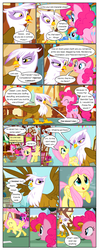 Size: 612x1551 | Tagged: artist:newbiespud, background pony, berry punch, berryshine, comic, comic:friendship is dragons, dialogue, duck, duckling, earth pony, edit, edited screencap, eyes closed, female, fluttershy, gilda, griffon, griffon the brush off, looking up, mare, pegasus, pinkie pie, pony, rainbow dash, raised hoof, running, safe, screencap, screencap comic, sugarcube corner