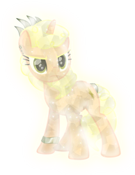 Size: 4550x5858 | Tagged: safe, artist:lincolnbrewsterfan, oc, oc only, oc:incentive iridescence, crystal pony, pony, unicorn, crystal unicorn, epic face, i belong to the greatest (braclet), ponified, ponified music artist, serious, serious face, simple background, solo, transparent background, vector