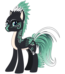 Size: 2800x3200 | Tagged: safe, artist:cheezedoodle96, derpibooru exclusive, oc, oc only, oc:alpine apotheon, pegasus, pony, 2020 community collab, derpibooru community collaboration, .svg available, body markings, feathered mane, female, folded wings, looking at you, mare, mohawk, simple background, smiling, solo, svg, transparent background, vector, wings