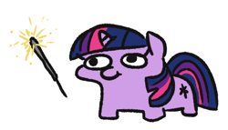 Size: 482x275   Tagged: safe, artist:jargon scott, twilight sparkle, pony, unicorn, female, filly, filly twilight sparkle, fireworks, new year, simple background, solo, sparkler (firework), this will end in fire, twiggie, white background, younger