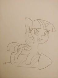Size: 1536x2048 | Tagged: safe, artist:tjpones, twilight sparkle, alicorn, pony, fireworks, monochrome, new year, pencil drawing, rocket, solo, this will end in explosions, this will end in pain, this will not end well, traditional art, twilight sparkle (alicorn)