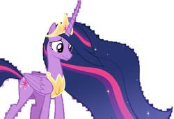 Size: 14212x9805   Tagged: safe, artist:andoanimalia, twilight sparkle, alicorn, pony, the last problem, spoiler:s09e26, absurd resolution, female, mare, older, older twilight, princess twilight 2.0, simple background, smiling, solo, transparent background, twilight sparkle (alicorn), vector