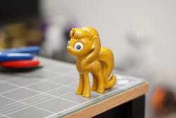 Size: 900x600 | Tagged: safe, artist:divelia, starlight glimmer, pony, unicorn, 3d print, female, googly eyes, irl, mare, photo, solo