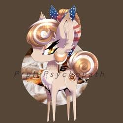 Size: 2048x2048 | Tagged: safe, artist:prplepsychopath, oc, oc only, oc:cinnamon spangled, earth pony, pony, bandana, chest fluff, chibi, commission, cute, female, mare