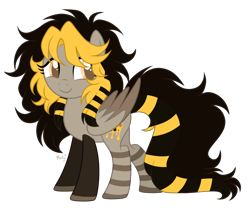 Size: 1280x1072 | Tagged: safe, artist:mintoria, oc, oc:bee, pegasus, pony, female, mare, simple background, solo, transparent background