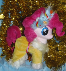 Size: 1839x2000 | Tagged: safe, artist:crazyditty, pinkie pie, spirit of hearth's warming presents, hearth's warming eve, irl, photo, plushie