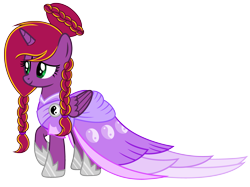 Size: 4132x3084 | Tagged: safe, artist:diamond-chiva, oc, oc:diamond-chi, alicorn, pony, clothes, coronation dress, dress, female, high res, mare, simple background, solo, transparent background