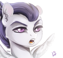 Size: 1727x1603 | Tagged: safe, artist:lavendersweet69, rumble, pegasus, pony, bust, cheek fluff, colt, ear fluff, male, open mouth, portrait, simple background, solo, spread wings, white background, wings