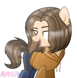 Size: 1071x1089 | Tagged: safe, artist:amgiwolf, oc, oc:ksenia, earth pony, pony, clothes, female, hoodie, mare, pants, simple background, solo, transparent background