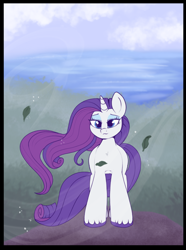 Size: 754x1011 | Tagged: safe, artist:lulubell, rarity, pony, unicorn, female, long hair, long mane, loose hair, mane, mare, solo, stupid sexy rarity, unshorn fetlocks, windswept hair, windswept mane, windswept tail