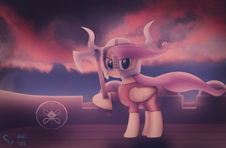 Size: 3287x2160 | Tagged: safe, artist:cosmikvek, fluttershy, pegasus, axe, badass, battle axe, clothes, flutterbadass, helmet, hoof hold, longship, redraw, shield, solo, viking, war axe, weapon, wind