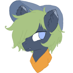 Size: 1080x1080 | Tagged: safe, anonymous artist, oc, oc:xavier, bat pony, pony, simple background, transparent background