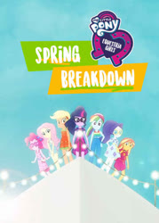 Size: 500x700 | Tagged: safe, applejack, fluttershy, pinkie pie, rainbow dash, rarity, sci-twi, sunset shimmer, twilight sparkle, equestria girls, equestria girls series, i'm on a yacht, spring breakdown, spoiler:eqg series (season 2), equestria girls logo, female, glasses, humane five, humane seven, humane six, light, my little pony logo, ship, yacht