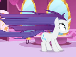 Size: 1280x957 | Tagged: safe, screencap, rarity, unicorn, rarity's biggest fan, spoiler:interseason shorts, cropped, long hair, long mane, solo