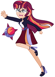 Size: 691x973 | Tagged: safe, artist:eonionic, oc, oc:eclipse, equestria girls, clothes, magical lesbian spawn, offspring, parent:sunset shimmer, parent:twilight sparkle, parents:sunsetsparkle, simple background, solo, transparent background