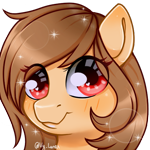Size: 500x500 | Tagged: safe, artist:thanhvy15599, oc, oc only, earth pony, pony, commission, commission result, female, mare, red eyes, simple background, solo, sparkles, transparent background