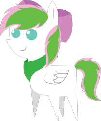 Size: 4831x5788 | Tagged: safe, artist:cosmiceclipsed, oc, oc only, oc:star tracer, pegasus, pony, bandana, bow, clothes, pointy ponies
