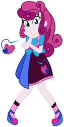 Size: 833x1639 | Tagged: safe, artist:eonionic, oc, oc:heart stitch, equestria girls, clothes, magical lesbian spawn, offspring, parent:pinkie pie, parent:rarity, parents:raripie, simple background, solo, transparent background