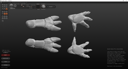 Size: 1920x1040 | Tagged: safe, anthro, changeling, 3d, feet, fingers, hand, palms, sculptris, soles, toes