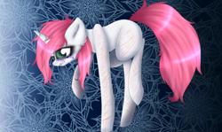 Size: 1152x688 | Tagged: safe, artist:uglypartyhat, oc, pony, unicorn, crying, ponified, sad, sala samobójców, scar, self harm, sylwia, the suicide room