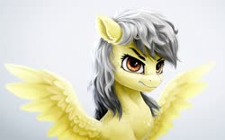Size: 4333x2700 | Tagged: safe, artist:rysunkowasucharia, daring do, pegasus, female, gritted teeth, mare, redraw, simple background, solo, spread wings, white background, wings