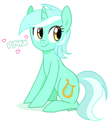 Size: 816x902 | Tagged: safe, artist:riddle-kay, lyra heartstrings, pony, unicorn, cute, cyrillic, female, lyrabetes, mare, simple background, sitting, solo, translated in the comments, white background