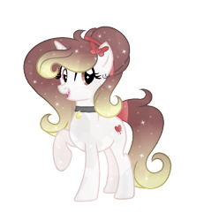 Size: 713x771 | Tagged: safe, artist:darbypop1, oc, oc only, oc:destiny blood, crystal pony, pony, unicorn, crystallized, female, mare, solo