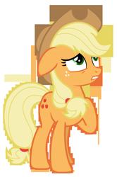 Size: 4832x7297 | Tagged: safe, artist:estories, applejack, pony, absurd resolution, hat, simple background, solo, transparent background, vector