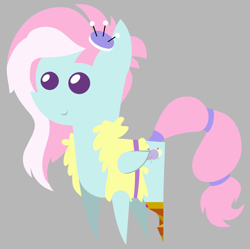 Size: 5064x5048 | Tagged: safe, artist:egor418, kerfuffle, pegasus, pony, rainbow roadtrip, spoiler:rainbow roadtrip, amputee, cute, female, fufflebetes, mare, pointy ponies, prosthetic leg, prosthetic limb, prosthetics, simple background, solo