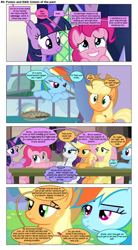 Size: 868x1571 | Tagged: safe, artist:dziadek1990, edit, edited screencap, screencap, applejack, fluttershy, pinkie pie, rainbow dash, rarity, twilight sparkle, oc, oc:skullfuck doombringer, comic:ponies and d&d, bad pun, comic, conversation, dialogue, dungeons and dragons, emote story:ponies and d&d, pen and paper rpg, reference, rpg, screencap comic, slice of life, text