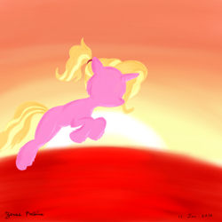 Size: 1000x1000 | Tagged: safe, artist:rockhoppr3, luster dawn, pony, unicorn, dawn, female, mare, no face, part of a set, solo