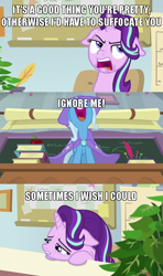 Size: 640x1080 | Tagged: safe, edit, edited screencap, screencap, phyllis, starlight glimmer, trixie, a horse shoe-in, spoiler:s09e20, caption, comic, female, image macro, lesbian, marik ishtar, meme, ryou bakura, screencap comic, shipping, startrix, text, yugioh abridged