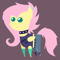 Size: 5736x5784 | Tagged: safe, artist:egor418, fluttershy, pegasus, pony, equestria girls, equestria girls series, the road less scheduled, the road less scheduled: fluttershy, spoiler:choose your own ending (season 2), spoiler:eqg series, spoiler:eqg series (season 2), alternate hairstyle, choker, clothes, ear piercing, equestria girls outfit, equestria girls ponified, female, flutterpunk, jeans, mare, pants, piercing, pointy ponies, ponified, simple background, socks, solo