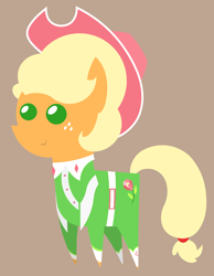 Size: 4605x5949 | Tagged: safe, artist:egor418, applejack, earth pony, pony, sparkle's seven, spoiler:s09e04, apple chord, clothes, cute, female, hat, jackabetes, mare, pointy ponies, simple background, solo