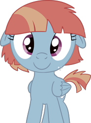 Size: 2693x3631 | Tagged: safe, alternate version, artist:poniidesu, windy whistles, pegasus, pony, /mlp/, cute, female, floppy ears, folded wings, looking at you, mare, simple background, solo, top mom, transparent background, windybetes, wings