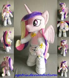 Size: 1280x1447 | Tagged: safe, artist:agatrix, princess cadance, alicorn, pony, semi-anthro, anthro plushie, bipedal, clothes, female, horn, irl, photo, plushie, solo, wings