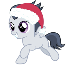 Size: 817x722 | Tagged: safe, artist:frownfactory, artist:jawsandgumballfan24, edit, rumble, pegasus, pony, 1000 years in photoshop, christmas, colt, cute, foal, hat, holiday, male, rumblebetes, santa hat, simple background, solo, transparent background, vector