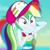 Size: 540x539   Tagged: safe, edit, edited screencap, screencap, rainbow dash, equestria girls, spring breakdown, spoiler:eqg series, spoiler:eqg series (season 2), arm behind head, blurred background, cropped, cute, dashabetes, hat, ocean