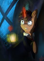 Size: 1053x1457 | Tagged: safe, artist:yuris, oc, pony, unicorn, harry potter, solo