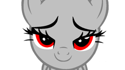 Size: 1000x563 | Tagged: safe, artist:xstormi, oc, oc only, earth pony, pony, base, bedroom eyes, looking at you, simple background, smiling, solo, white background