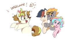 Size: 1920x1080 | Tagged: safe, artist:drtuo4, oc, oc only, oc:aj, oc:draconidsmxz, oc:oofy colorful, earth pony, pegasus, pony, unicorn