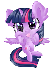 Size: 768x1024 | Tagged: safe, artist:sunshineshiny, twilight sparkle, alicorn, pony, cheek squish, chibi, cute, ear fluff, female, mare, open mouth, simple background, solo, squishy cheeks, transparent background, twiabetes, twilight sparkle (alicorn)