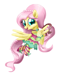 Size: 768x1024 | Tagged: safe, artist:sunshineshiny, fluttershy, pegasus, pony, friendship through the ages, braid, clothes, cute, dress, equestria girls ponified, female, folk fluttershy, mare, open mouth, ponified, shyabetes, simple background, solo, transparent background