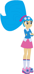 Size: 312x681 | Tagged: safe, artist:selenaede, artist:user15432, human, equestria girls, barely eqg related, base used, blue hair, bow, clothes, crossed arms, crossover, equestria girls style, equestria girls-ified, glasses, hair bow, sapphire, sapphire (trollz), sapphire trollzawa, shoes, socks, troll, trollz