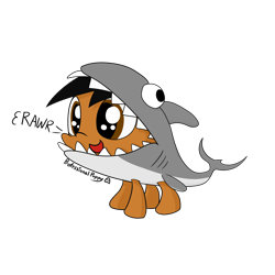 Size: 4096x4096 | Tagged: safe, artist:professionalpuppy, oc, oc only, oc:puppy, shark, clothes, costume