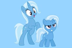 Size: 1280x854 | Tagged: safe, artist:media1997, trixie, female, filly, mare, past and present, younger