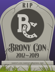 Size: 2550x3300 | Tagged: safe, artist:samoht-lion, bronycon, bronycon 2019, gravestone, horseshoes, no pony, text
