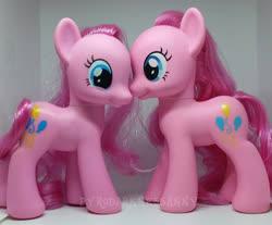 Size: 540x448   Tagged: safe, photographer:emfen, pinkie pie, bootleg, duality, self ponidox, toy